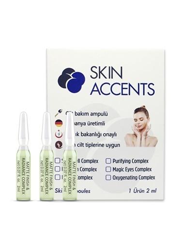 Skin Accents Skin Accents Gözenek Giderici Matlaştırıcı Ampul - Matte Finish & Radiance Complex  1 Ampul Renksiz